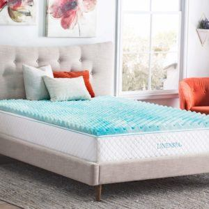 UK Visco Therapy Memory Foam Fibre Mattress Topper with Luxury Cover