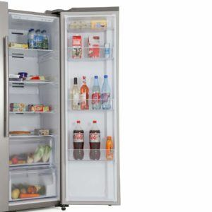 Interior Storage Arrangements in a Side By Side Refrigerator review and comparison