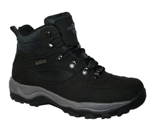 What types of hiking shoes are there in a comparison review?
