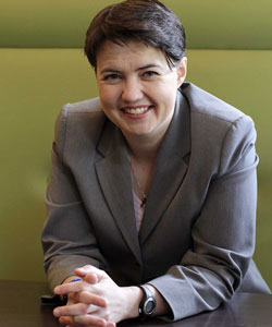 Ruth Davidson becomes the UK's first lesbian or gay party leader