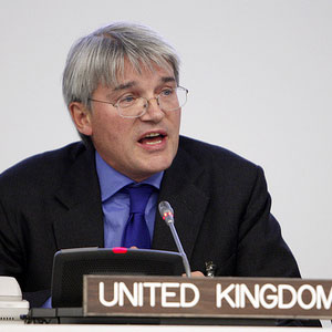Andrew Mitchell said the policy had been wrongly reported as a threat to cut aid