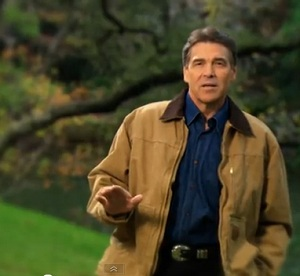 In the video, Rick Perry says religious faith can make America