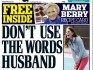 """The Daily Mail added that it """"supports civil partnerships"""""""