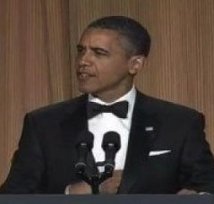 """Mr Obama promises something it will """"rain men"""" if he's reelected (Photo: YouTube)"""