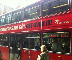 The buses will carry Stonewall's message for the month of April