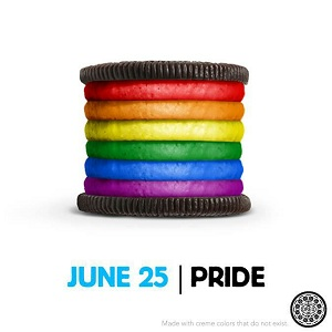 More colours and a few more calories in the Pride cookie  (Photo: Oreo)