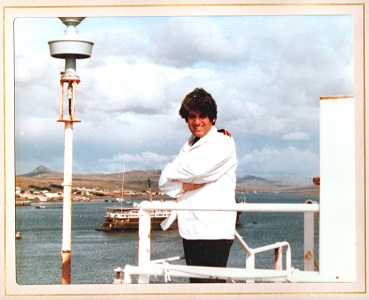 Wendy in the Falklands on the Norland