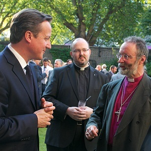 Alan Wilson (right) talks about equal marriage with David Cameron (photo: Downing Street)