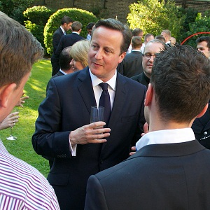 David Cameron hosted an LGBT reception at Downing Street on Wednesday afternoon