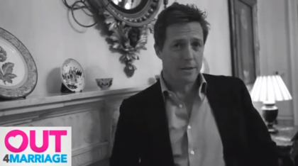Hugh Grant recorded a video saying he was Out4Marriage, and that 'love is the same for everyone'