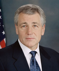 Responding to Senator Barbara Boxer, Chuck Hagel said he now supported equal rights for same-sex military couples