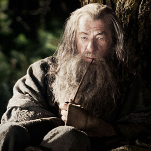 Sir Ian McKellen in the Hobbit