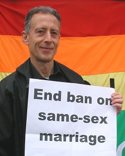 Peter Tatchell urged MPs to vote in favour of straight civil partnerships