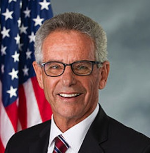 Alan Lowenthal hung a rainbow flag outside of his congressional office in support of equal marriage