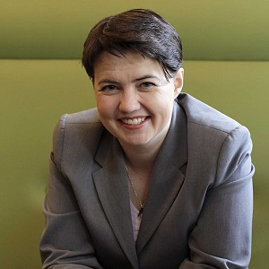 Ruth Davidson is the first gay person to head a major political party in the UK