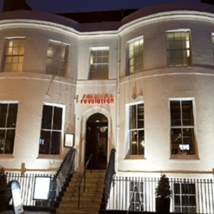 The incident took place at the Vodka Revolution bar on West Street, Brighton