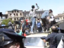Police surround LGBT rights demonstrators to hold off gathering demonstrators (Image: YouTube)