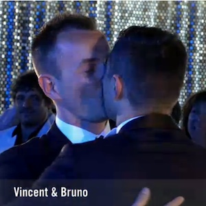 Vincent and Bruno Bruno Boileau and Vincent Autin became the first same-sex couple to marry in France (Image: Montpellier.fr)