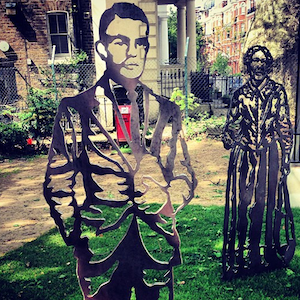 The sculpture of the gay computer genius Alan Turing appeared in St Mary's, Paddington (Image: Wynn Abbott Instagram)