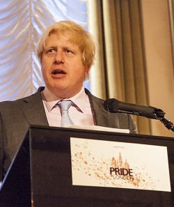 Boris Johnson at Tuesday's Pride in London gala dinner