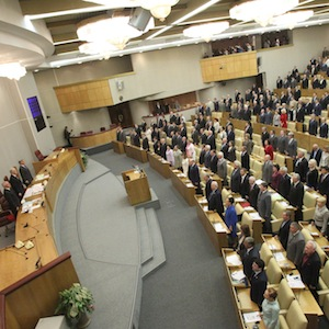 The Russian State Duma passed the law with no votes against, yesterday (Image:Wikipedia)