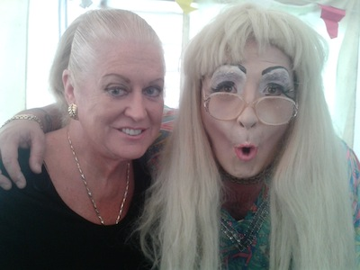 Kim Woodburn and Stage Manager, Paul Deakin