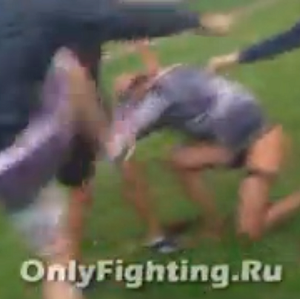 The video shows a brutal attack on a trans woman in a park