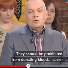 Dmitriy Kiselyov said gay people 'deliberately provoke situations to become victims'