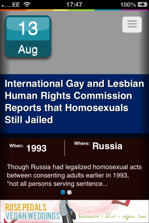 The app Quist offers a piece of LGBT history a day