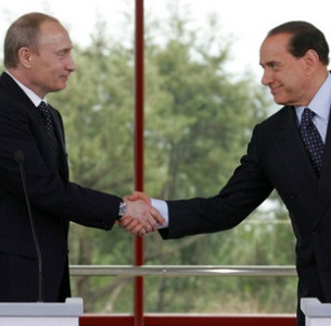 Putin is a close friend of the former Italian Prime Minister and media magnate