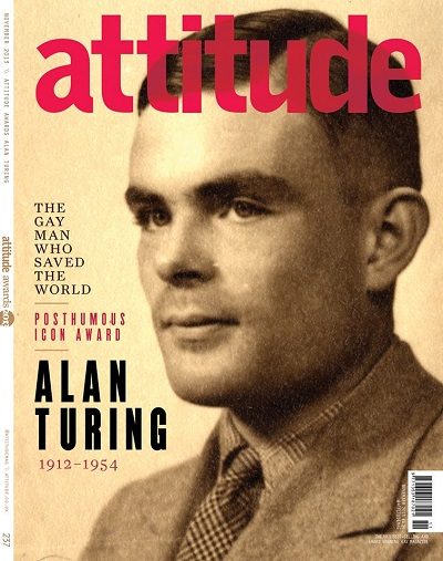 Alan Turing was honoured by the Attitude Award (Image: Attitude Magazine)