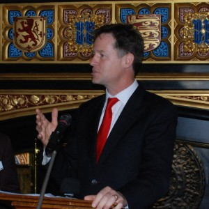 Nick Clegg speaking at the PinkNews Awards