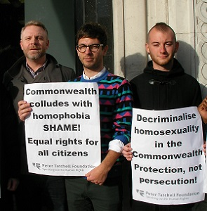 Wednesday's protest (Photo: Peter Tatchell Foundation)