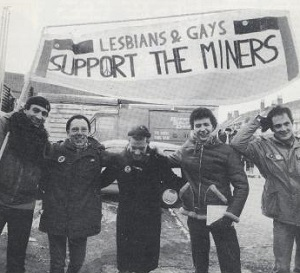 Gay rights campaigners helped the miners during their fight against the Thatcher government (Photo: Gayinthe80s)