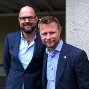 Norwegian Health Minister Bent Hoie will attend with his husband (Facebook)