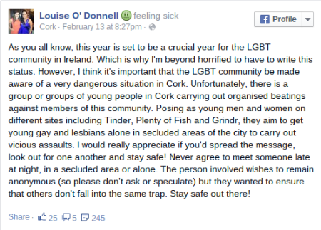 Louise O'Donell's post