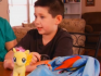 Grayson Bruce will once again be allowed to bring his My Little Pony bag to school (Photo: ABC)