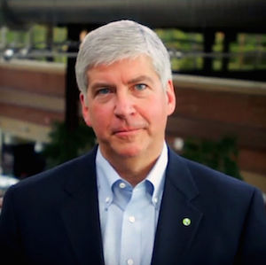 """Rick Snyder said the marriages """"were legal"""", but that the state would not recognise them"""