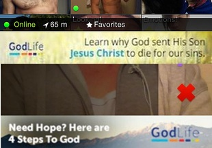 GodLife is advertising to Grindr users