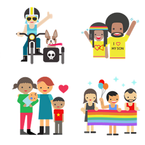 Facebook has released a free range of LGBT-themed sticker emoticons,  featuring various gay symbols, same-sex couples and families.