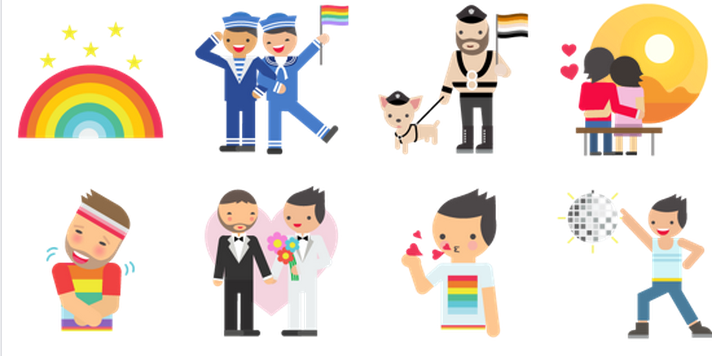 Facebook releases free Pride-themed sticker set