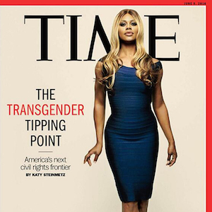 The radio host took aim at Laverne Cox