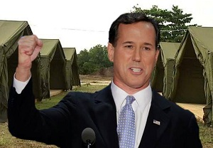 Rick Santorum claims people are being sent to re-education camps (Photo: Peter Miles)