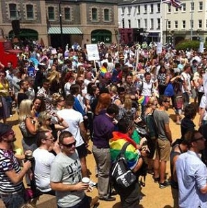 Hundreds of people took to the streets, to protest the setback