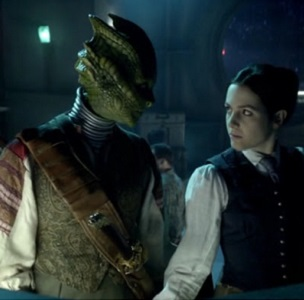 Madame Vastra and Jenny Flint will kiss in the episode