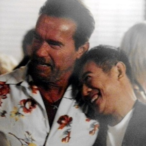 Arnold Schwarzenegger's character is hinted to be gay