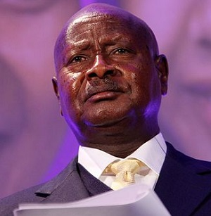 President Museveni said that homosexuality had become a 'danger' to the young generation