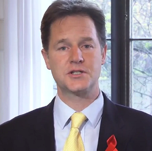 Nick Clegg paid a moving tribute to those persecuted in the Holocaust
