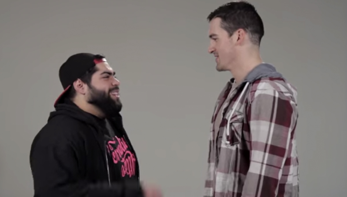 Video: Straight guys kiss their best friends for the first
