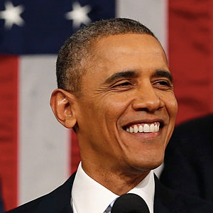 Obama delivering his State of the Union Address